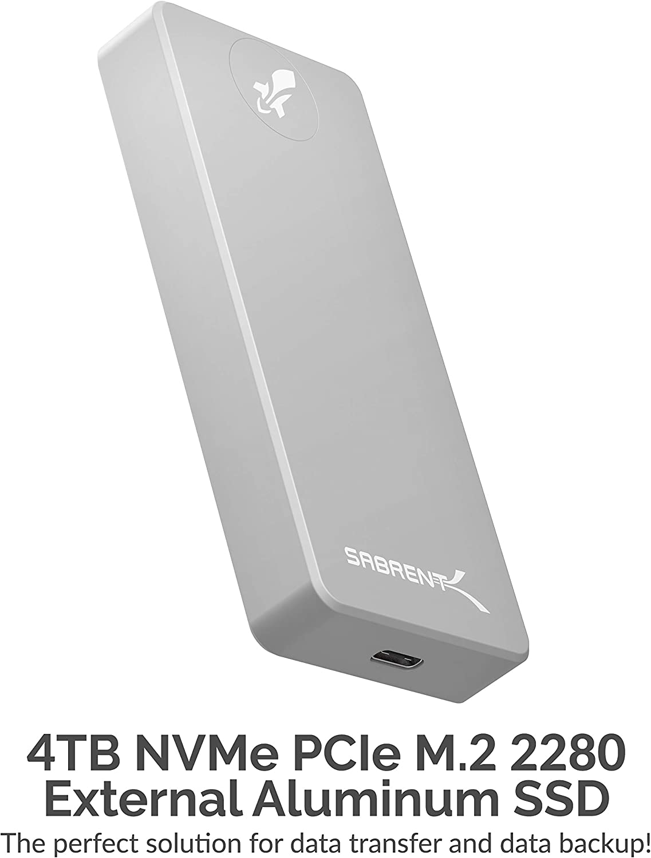 Sabrent Rocket Pro 4TB USB 3.2 SSD externo de aluminio (SB-4TB-PRO ...