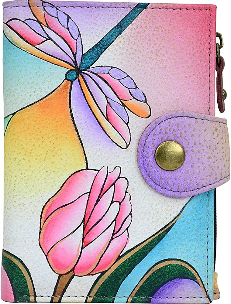 Anna by Anuschka Genuine Leather Ladies Wallet | Hand-Painted Original Artwork