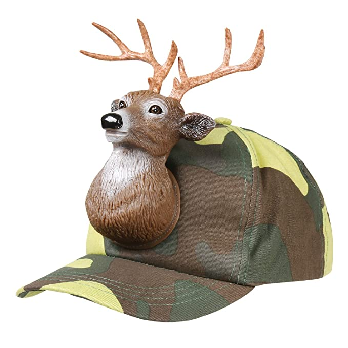 123214d3b94 Amazon.com  Deer Buck Camo 3D Animal Adult One Size Cotton Ball Cap ...