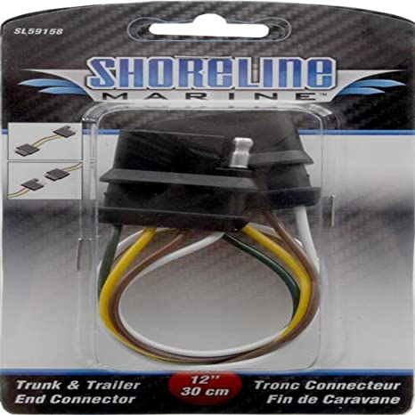 Amazon.com: Sline Marine 4-Way Trailer Wire Connector: Sports ... on 4 flat trailer colors, 4-way round trailer lights colors, trailer turn signal colors,