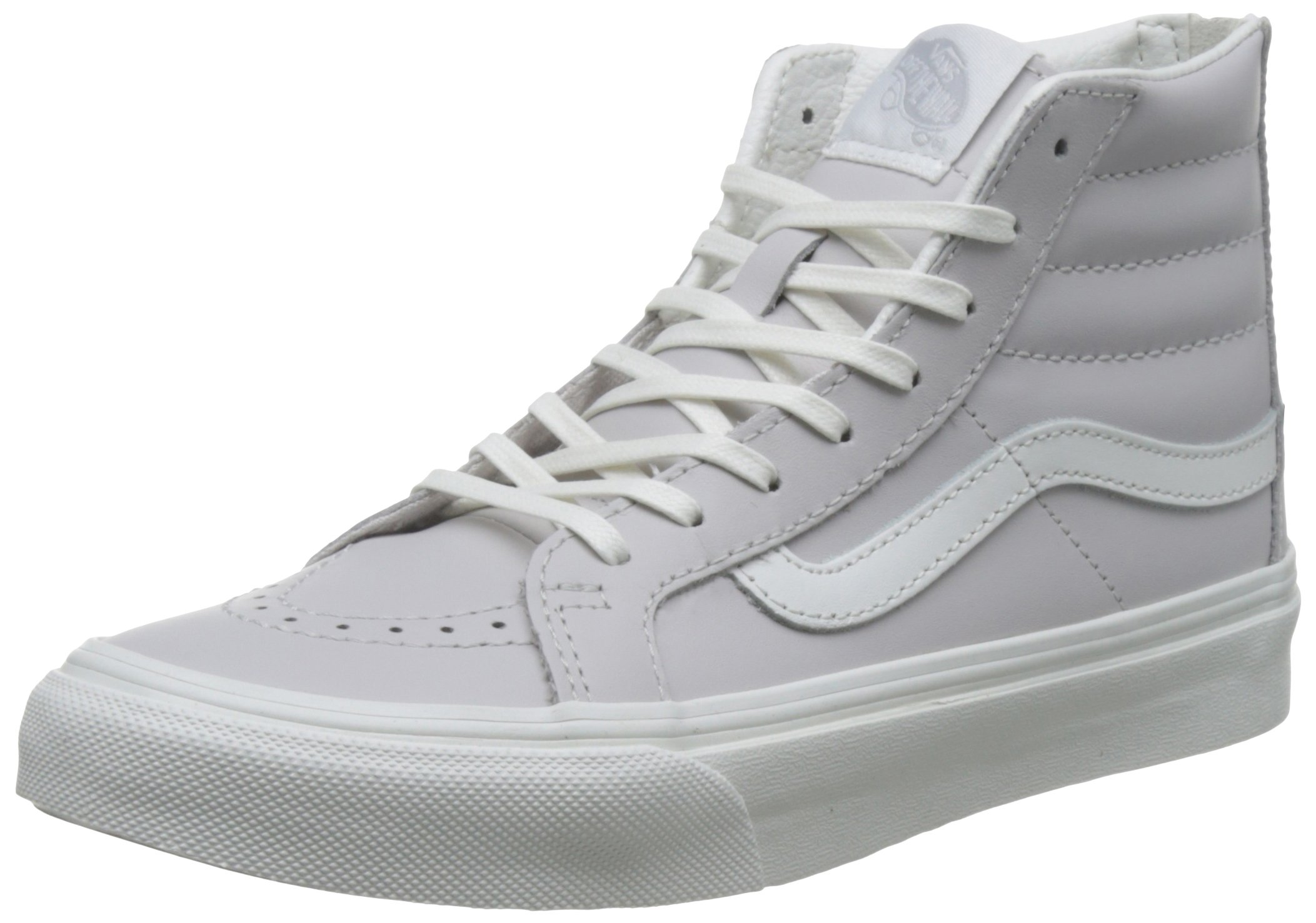 74ba94519d56 Galleon - Vans Unisex Leather SK8-Hi Slim Zip Wind Chime Blanc De Blanc  Sneaker - 7