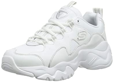 Skechers D'Lites 3.0 Trainers White: Amazon.co.uk: Shoes & Bags