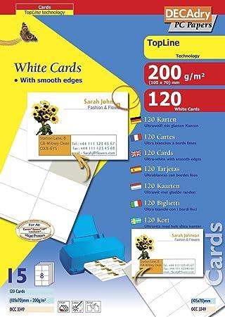 Amazon Com Apli Occ3349 Set 120 Cards Square Corners 105 X 70 Mm