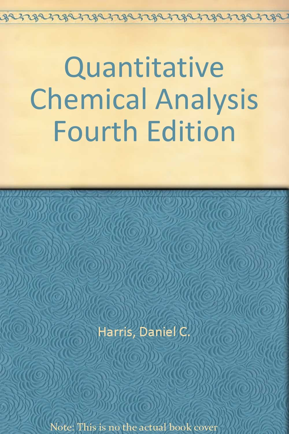 Quantitative chemical analysis quantitative chemical analysis 24th quantitative chemical analysis quantitative chemical analysis fourth edition daniel c harris 20 fandeluxe Image collections