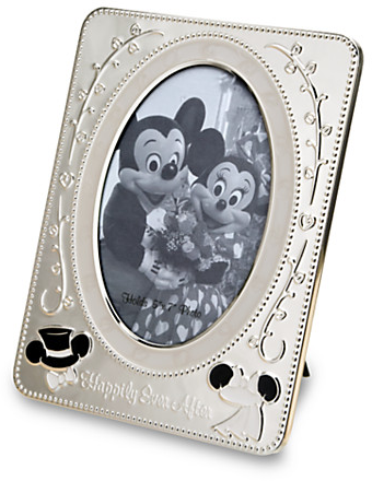 Mickey Mouse and Minnie Mouse Metal Wedding Photo Frame | Albums & Frames | Disney Store