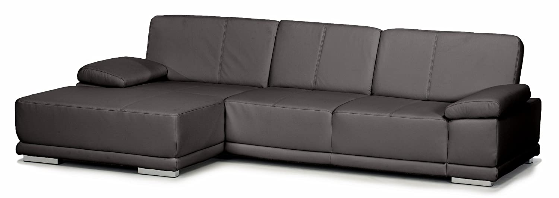 Lederecke Corianne/Longchair-3er/282x80x162 cm/Leder Punch schwarz-Poroflex softy schwarz