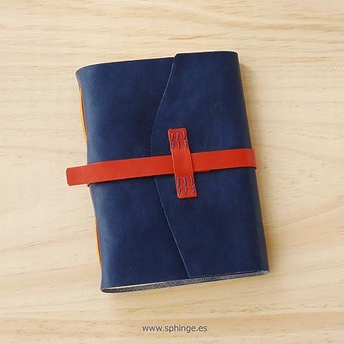 Agenda de piel, cuaderno de notas artesanal, formato A6 ...