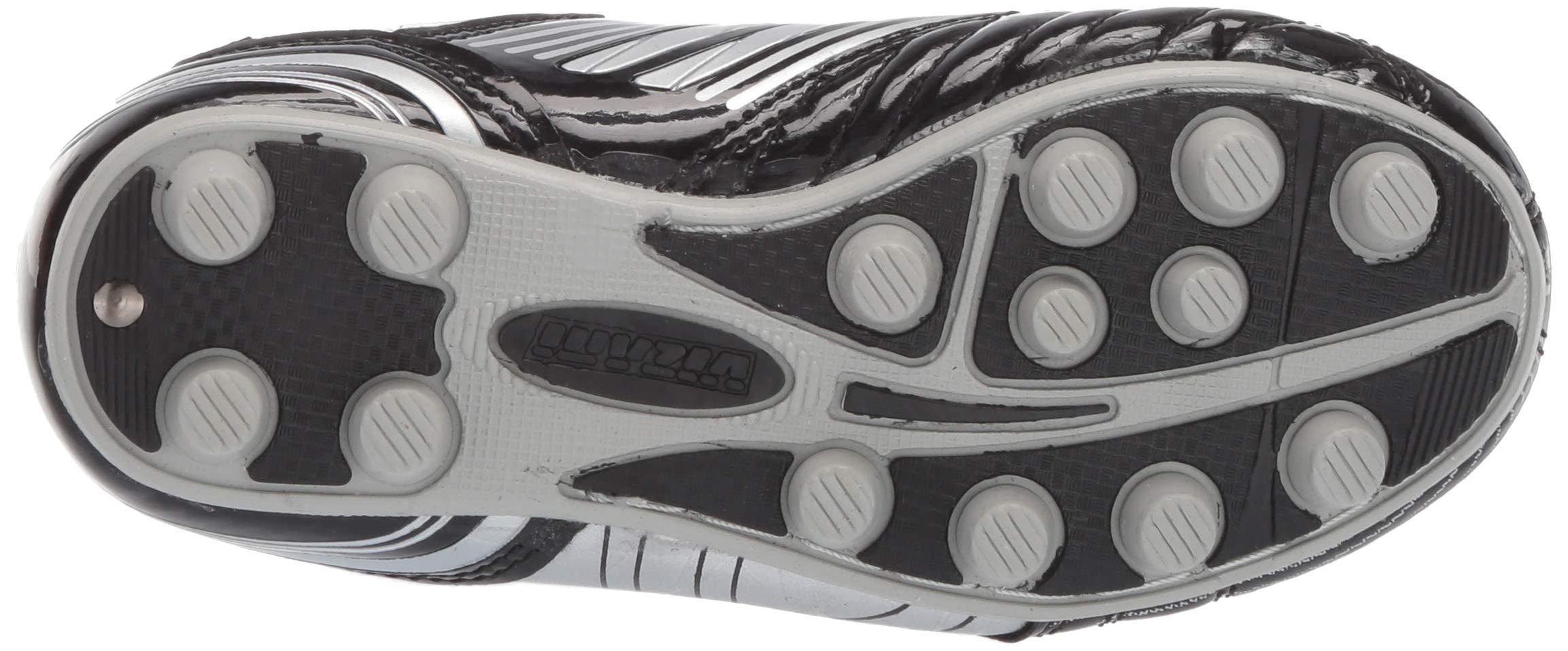 Vizari Striker FG Soccer Shoe (Toddler/Little Kid/Big Kid),Black/Silver,10 M US Toddler by Vizari (Image #3)