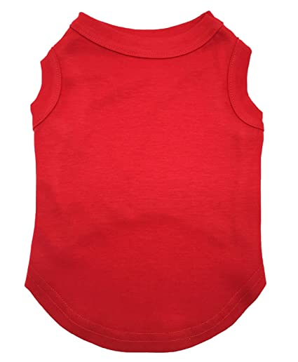 203896d7c20e Petitebella Pet Supply Plain Red Cotton Tank Top T-Shirt Blouse Dress Dog  Cat (
