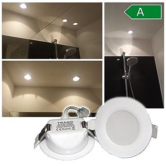 Spot LED encastrable salle de bains Lumière Blanc neutre 60 ...