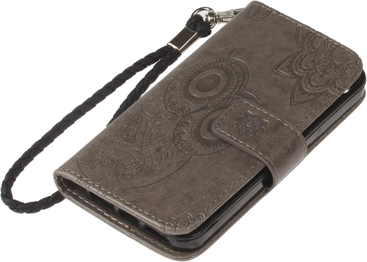 Karomenic PU Leder H/ülle kompatibel mit iPhone SE//5S//5 Pr/ägung Eule Muster Handyh/ülle Brieftasche TPU Silikon Schutzh/ülle Klapph/ülle Magnet Ledertasche Wallet Flip Case Etui,Rosa