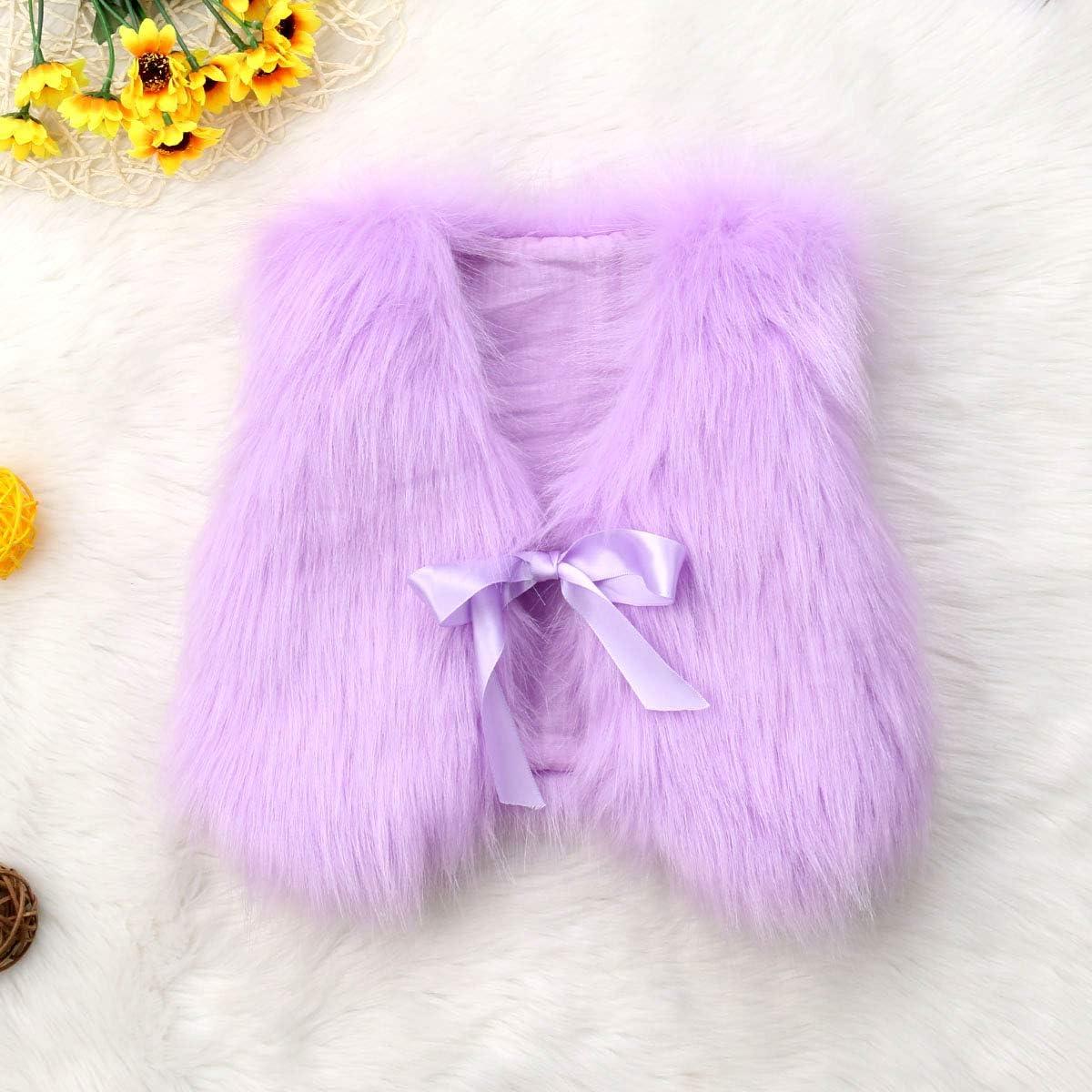 remeo suit Infant Baby Girl Soft Faux Fur Vest Coat Jacket Outwear Toddler Baby Warm Winter Waistcoat