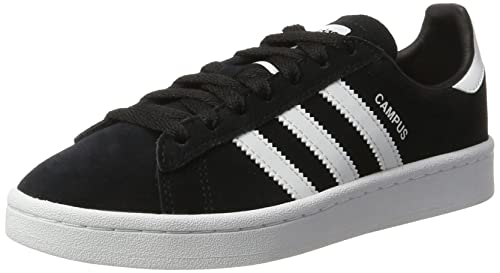 Amazon.com | adidas Originals Campus Black Suede 4 M US Big Kid | Fashion Sneakers
