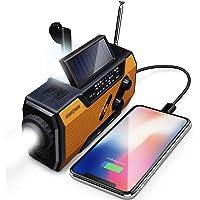FosPower Emergency Solar Hand Crank Portable Radio, NOAA Weather Radio for… photo