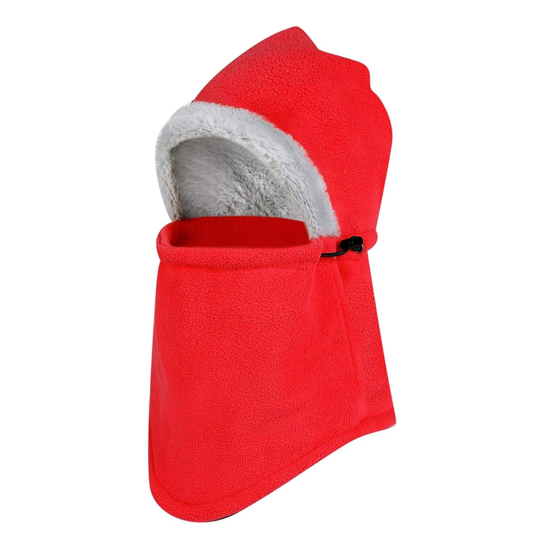 Rgslon Fleece Balaclava Hood Windproof Ski Mask Warmer Cycling Helmet Liner