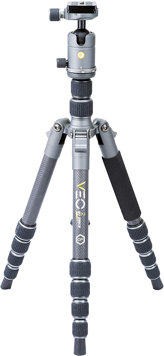 Vanguard VEO2GO235CB Carbon Fiber Travel Tripod with Ball Head for Sony