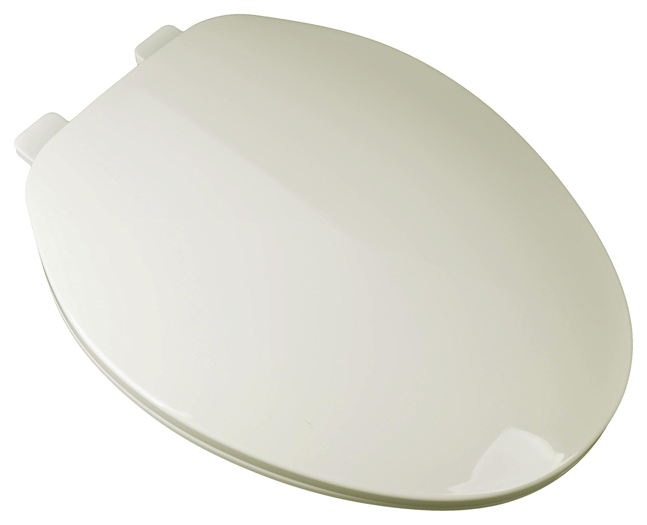Bath Décor 2F1E3-01 Builder Grade Plastic Top Mount Elongated Toilet Seat with Adjustable Hinge by Bath Décor