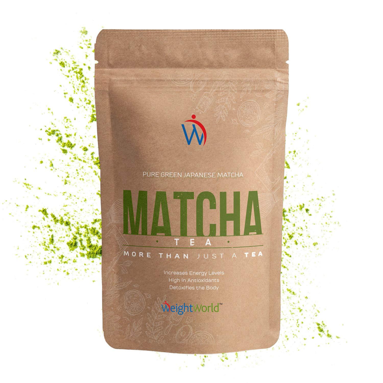 Matcha Green Tea Powder 100g by WeightWorld® - Premium Natural Vegan Energy  for Weight Loss, Baking, Drink - Super Pure Japanese Ceremonial Grade