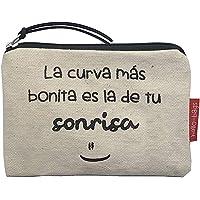 Hello-Bags Bolso Monedero/Billetero/Tarjetero. Algodón 100%. Blanco. con Cremallera