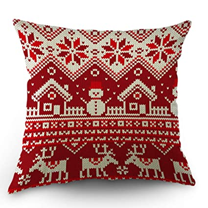 Amazon Com Moslion Christmas Pillows Decorative Throw Pillow Cover