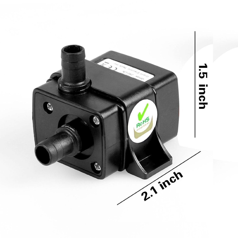 E-3LUE Flüsterleiser Wasser Pumpe Mini DC12 V 4,8 W Micro Brushless ...