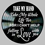 I Can't Help Song Lyric Art inspired by Elvis Vinyl