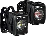 Kit conjunto Bontrager de iluminação farol Ion 200RT e Flare RT bateria recarregável por Usb para ciclismo