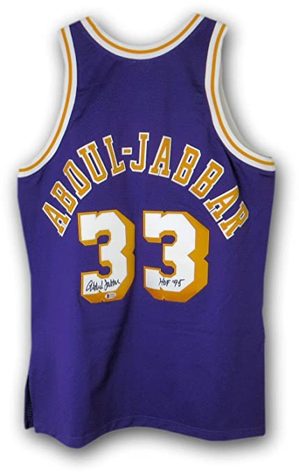 ebb04d00ce8 Image Unavailable. Image not available for. Color: Kareem Abdul-Jabbar  Autographed Signed Mitchell And Ness Jersey Lakers Beckett Authentic J57373