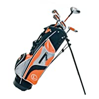 Longridge Junior Challenger Cadet Right Hand Golf Package Set - Orange, 8 Year Plus