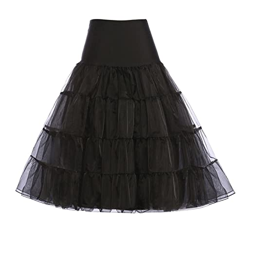 ca514dc118 GRACE KARIN Women's 50s Vintage Petticoat Crinoline Tutu Underskirts Tea  Length 30 inch Long