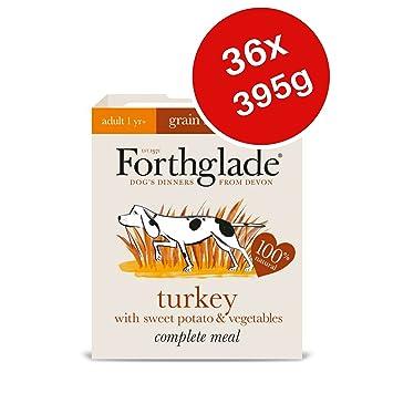 Forthglade - Comida completa para perros mojados sin grano para adultos - Turquía 395 g (paquete de 36): Amazon.es: Productos para mascotas