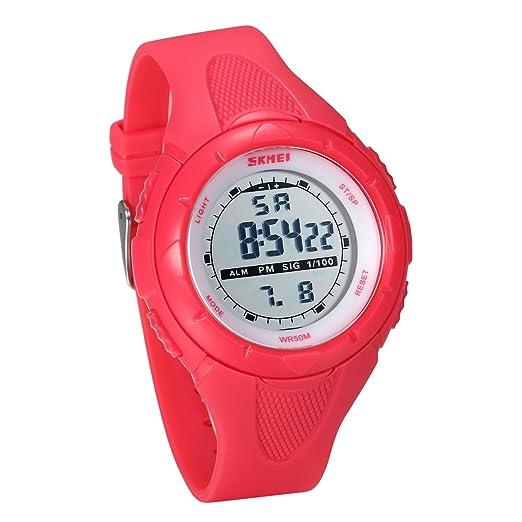 JewelryWe Relojes para Niños Niñas Reloj Deportivo Digital para Aire Libre, Reloj Infantil De Colores, 5ATM A Prueba de Agua Buen Regalo, Rosa: Amazon.es: ...