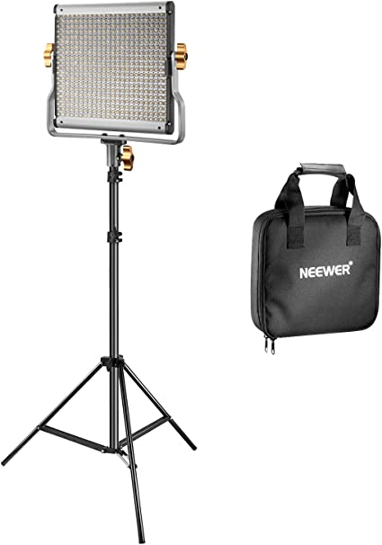 Comprar Neewer Kit Regulable Bi-Color 480 LED de Vídeo y Luz de Soporte Incluye: 3200-5600K CRI 96+ Panel de LED con Soporte U, 200-centímetro Soporte de Luz para Youtube Estudio Fotografía Video Grabaciones