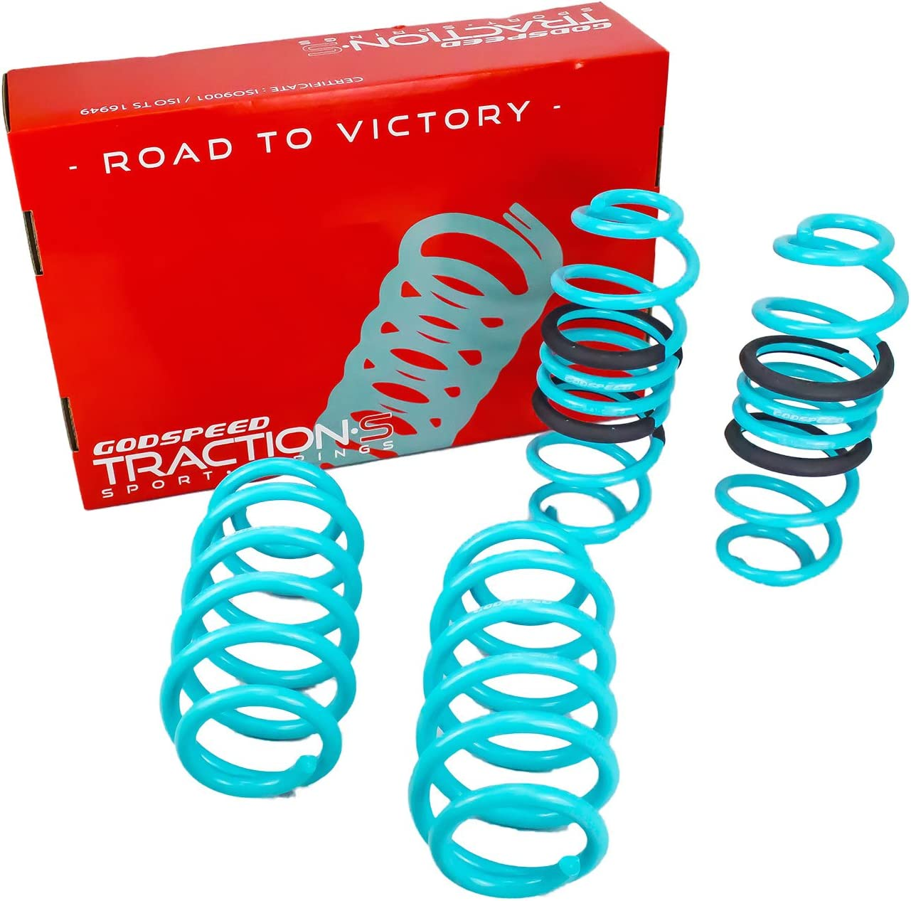 2009-2016 compatible with Audi A4//A4 Quattro//S4 Reduce Body Roll Set of 4 Godspeed LS-TS-AI-0005 Traction-S Sports Lowering Springs Improved Handling B8