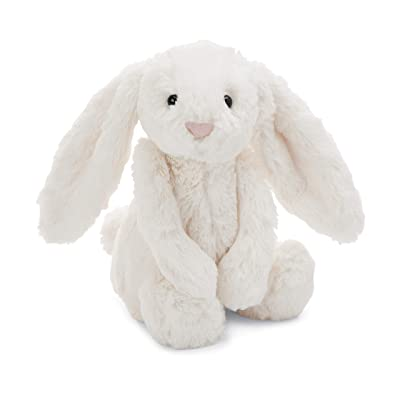Jellycat Bashful Cream Bunny Stuffed Animal, Medium, 12 inches: Toys & Games
