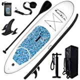"""FEATH-R-LITE Inflatable 10'×30""""×6"""" Ultra-Light (16.7lbs) SUP for All Skill Levels Everything Included with Stand Up Paddle Bo"""