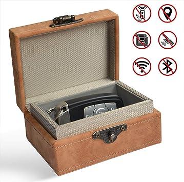 Caja de bloqueo de señal para llaves de coche, caja Faraday para llaves de coche, entrada