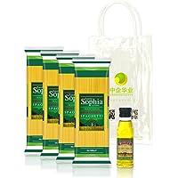 圣塔索菲亚 直条形意大利面500g*4袋 赠伯爵特级初榨橄榄油125ml 原装进口意面橄榄油