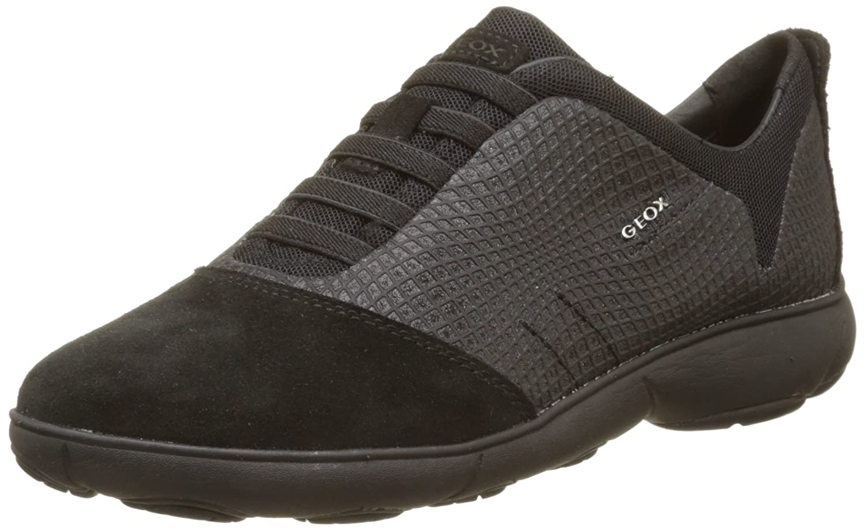 Geox D Nebula a, Zapatillas para Mujer 38 EU|Negro (Black)