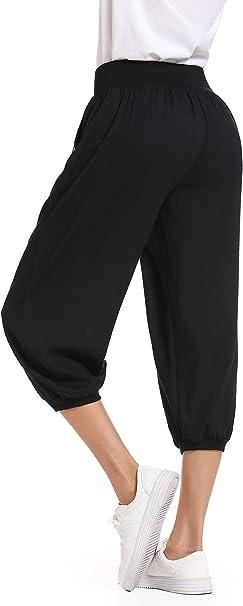 Amazon.com: Peiqi Pantalones de chándal para mujer, cómodos ...