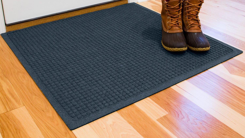 Hudson Exchange 4314 Waterhog Fashion Floor Mat 35 x 35 3 8 Thick Navy