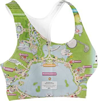 Rainbow Rules Epcot Center Map Sports Bra