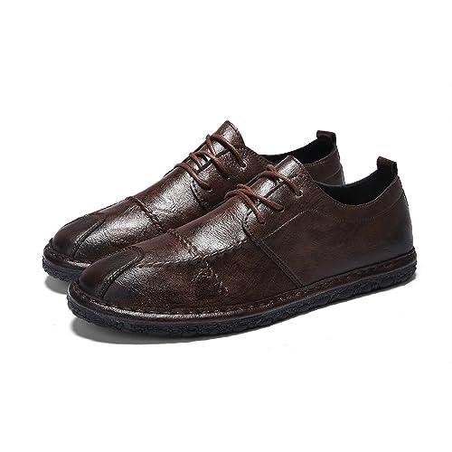 Zapatos de Cuero Vestir Mocasines Zapatos de Hombre Clásico Oxford Zapatos Formales Cómodo: Amazon.es: Zapatos y complementos
