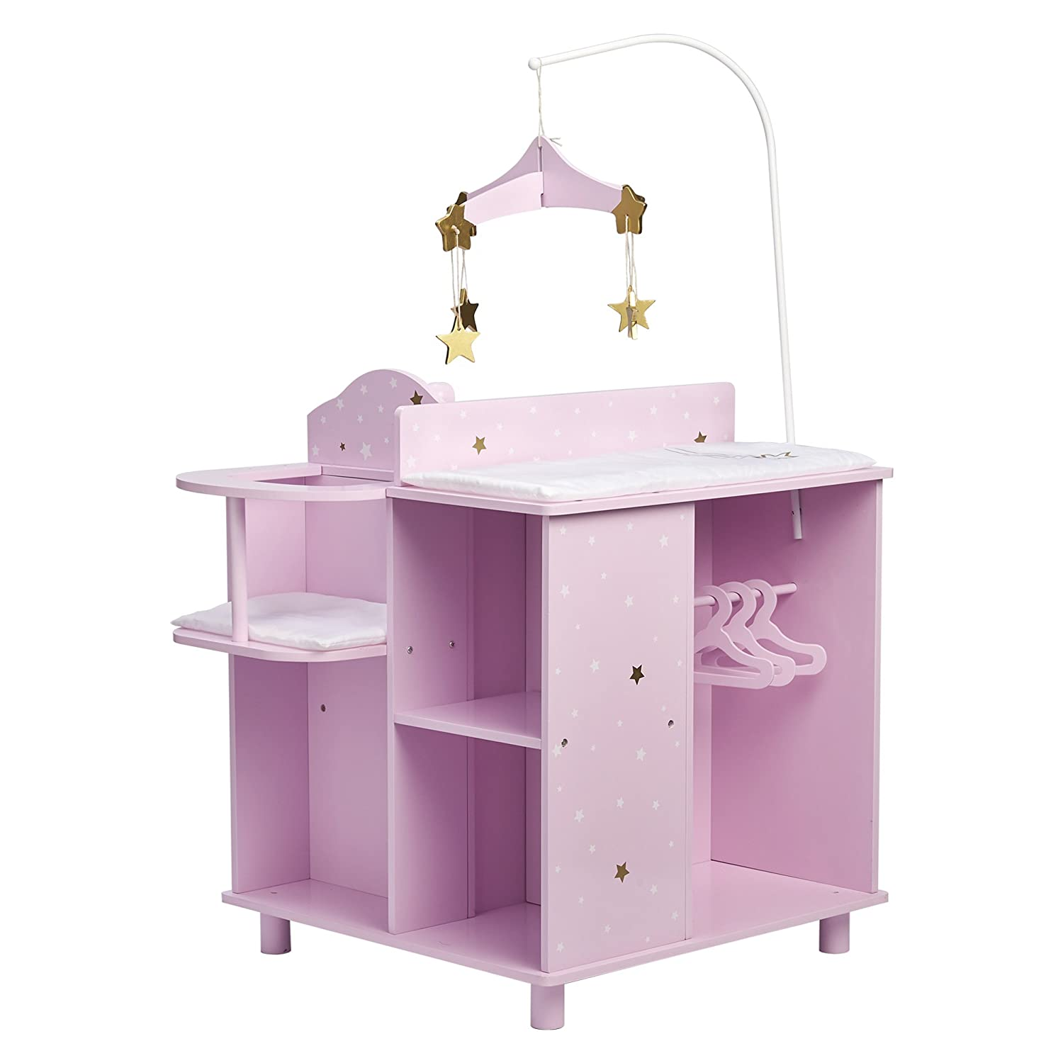 Olivia 's Little World td-0203ap Twinkle Stars Princess Baby Puppe Wickelstation mit Speicher Teamson