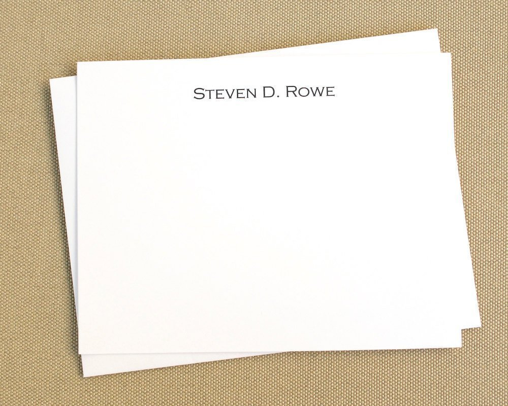 Personalized Stationery Note Cards/Personalized Social Stationary with Name/Set of 12 Notecards/Classic Professional Note Cards, Stationary Thank You Cards by Julie Rowe