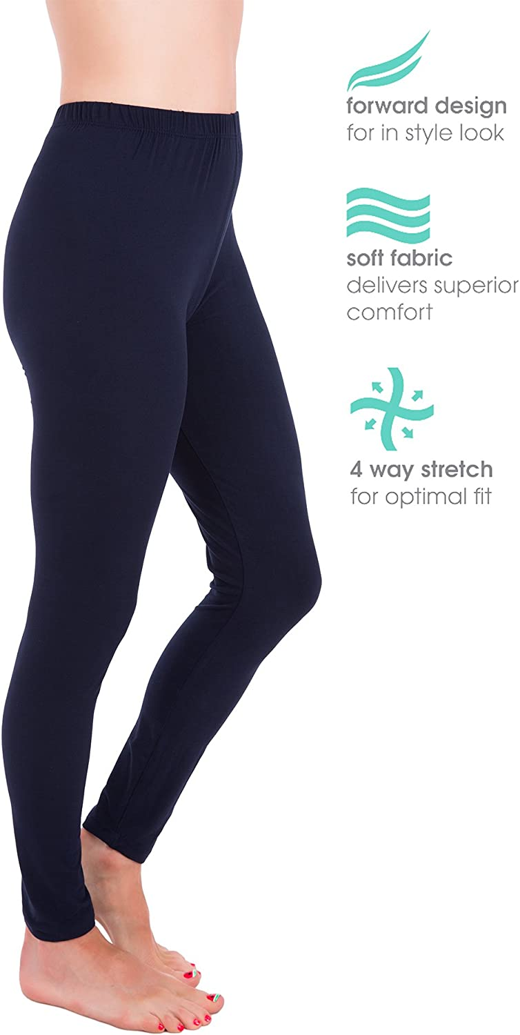 Homma Premium Ultra Soft High Rise Waist Full Length Regular and Plus Size Leggings