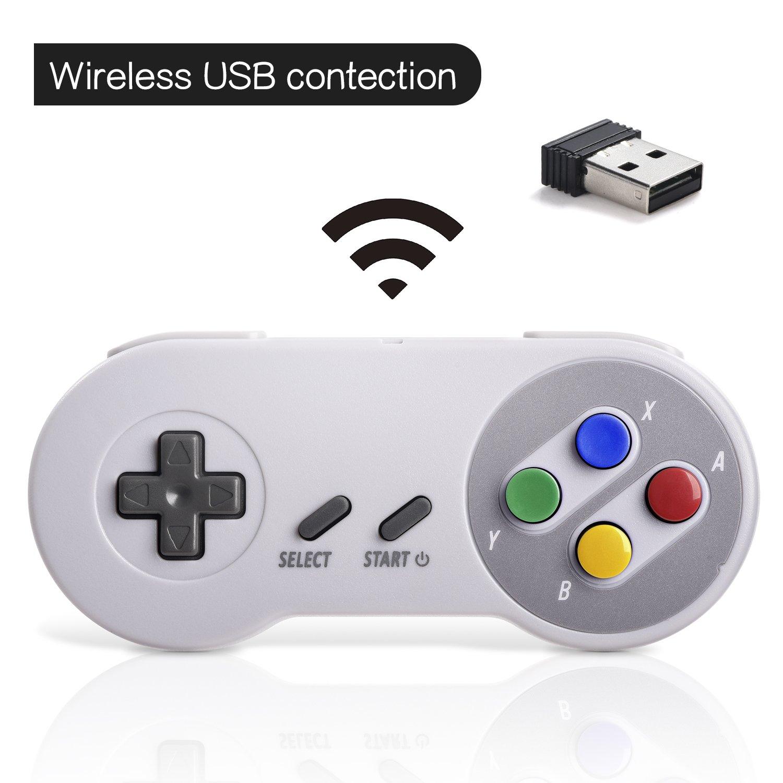 Amazon.com: Controlador USB inalámbrico de 2,4 GHz ...