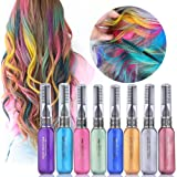 Hair Color Chalk Comb Set, HailiCare 8 Colors Temporary Hair Color Dye Touchup Mascara Cream Stick Non-Toxic Perfect for Halloween, Party & Festivals, Best Gift for All Girls
