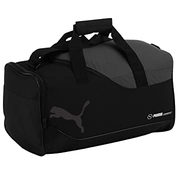 Puma Fundamentals Sports Bag with Shoulder Strap Small black Noir -  Noir gris Size  de87573cd8b37