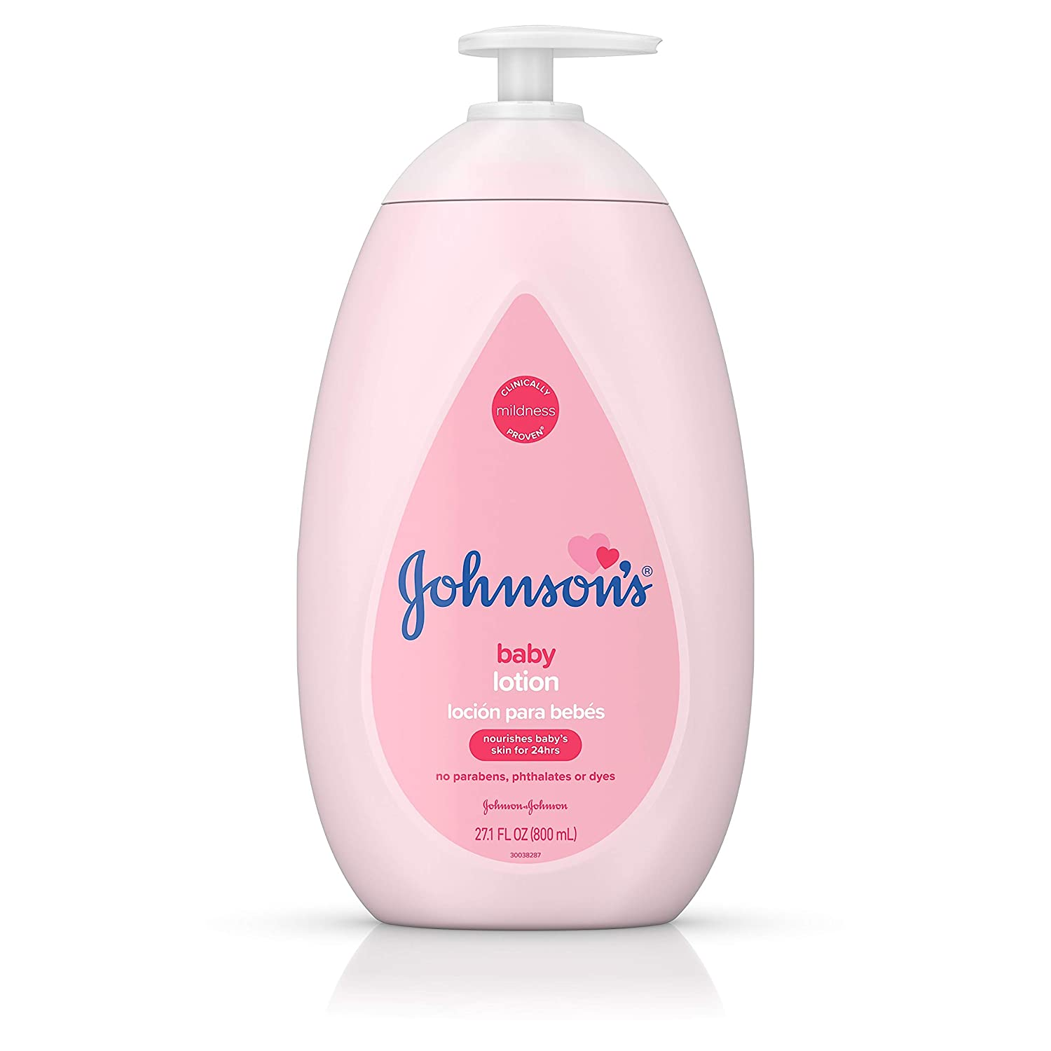 Johnson's Moisturizing Pink Baby Lotion with Coconut Oil, Hypoallergenic, 27.1 fl. oz